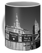 New York City With Traffic Signs Coffee Mug