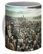New York From Above - Vintage Coffee Mug