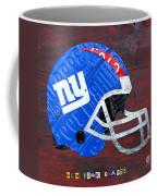 New York Giants Nfl Football Helmet License Plate Art Coffee Mug