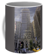 New York In Vertical Panorama Coffee Mug