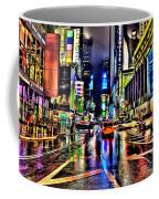 New York Lights In Rain Coffee Mug