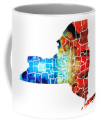 New York - Map By Sharon Cummings Coffee Mug