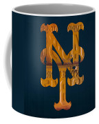 New York Mets Baseball Vintage Logo License Plate Art Coffee Mug