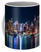 New York Panorama By Night Coffee Mug