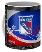 New York Rangers Christmas Coffee Mug