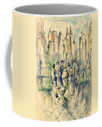 New York Roof Party - Watercolor Ink Coffee Mug