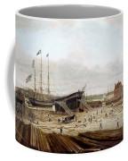 New York Shipyard, 1833 Coffee Mug
