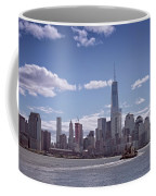 New York Skyline And Boat Coffee Mug