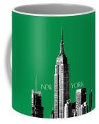 New York Skyline Empire State Building - Forest Green Coffee Mug