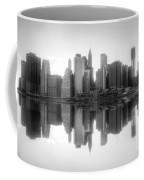 New York Skyline Sunset Bw Coffee Mug