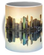 New York Skyline Sunset Coffee Mug