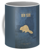 New York State Facts Minimalist Movie Poster Art  Coffee Mug