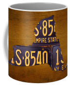 New York State License Plate Map - Empire State Orange Edition Coffee Mug