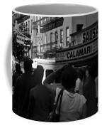 New York Street Fair - Black And White Coffee Mug
