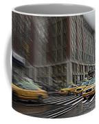 New York Taxi Abstract Coffee Mug