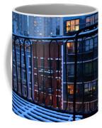 New York Window - Fire Escape In Winter Coffee Mug