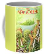 Green New York Coffee Mug