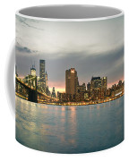 New York City - Brooklyn Bridge To Manhattan Bridge Panorama Coffee Mug