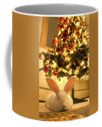 New Zealand White Rabbit Under The Christmas Tree Coffee Mug
