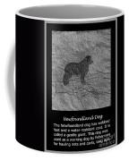 Newfoundland Dog Vintage Sketch Coffee Mug