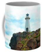 Lighthouse On Cliff Coffee Mug