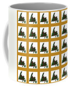 Newfoundland Tartan Map Blocks Gold Trim Coffee Mug