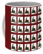 Newfoundland Tartan Map Blocks Red Trim Coffee Mug