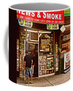 News And Smoke - Play Here Coffee Mug