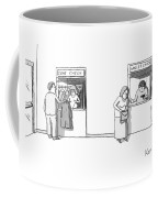 Next To A Regular Coat Check Is A Station Called Coffee Mug