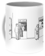 Next To A Regular Coat Check Is A Station Called Coffee Mug by Zachary Kanin