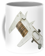 ng Pennies For Savings On White Background Coffee Mug