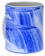 Niagara Falls Closeup In Blue Coffee Mug
