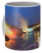 Niagara Falls Night Lights Panorama Coffee Mug