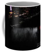Niagara Falls Nightly Illumination Aerial View Coffee Mug