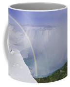 Niagara Falls With Winter Rainbow Coffee Mug