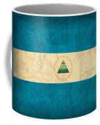 Nicaragua Flag Vintage Distressed Finish Coffee Mug