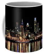 Night At Penn's Landing - Philadelphia Coffee Mug