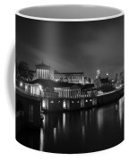 Night At Waterworks In Black And White Coffee Mug