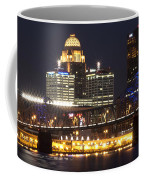 Night Descends Over Louisville City Coffee Mug