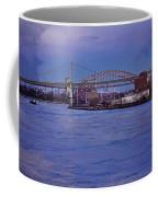 Night Descends Over The Triboro Bridge - Nyc Coffee Mug