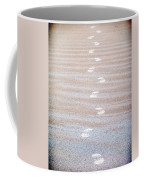 Night Beach Sand Footprints Coffee Mug