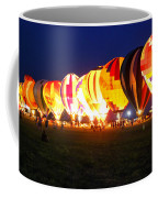 Night Glow Hot Air Balloons Coffee Mug