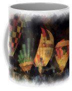 Night Glowing Hot Air Balloons Photo Art Coffee Mug