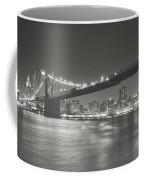 Night - New York City - Brooklyn Bridge Coffee Mug