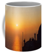 Night On Santorini Island  Coffee Mug