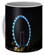 Night Shot Of The Singapore Flyer Ferris Wheel At Marina Bay Coffee Mug