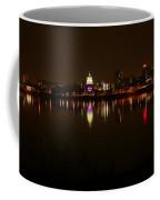 Night Skyline Harrisburg Pa Pink Lights Coffee Mug