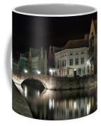 Night Time On The Canal Coffee Mug