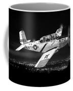 Night Vision Beechcraft T-34 Mentor Military Training Airplane Coffee Mug