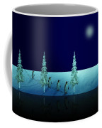 Night Walk Of The Penguins 2.5 Coffee Mug